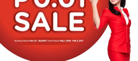 AirAsia One-Centavo Red Hot Seat Sale