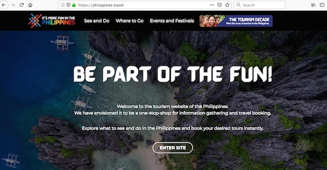 New Philippines DOT Website