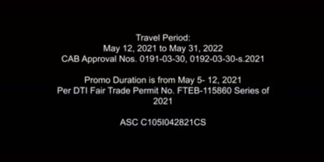 CEB Super Pass Travel Period
